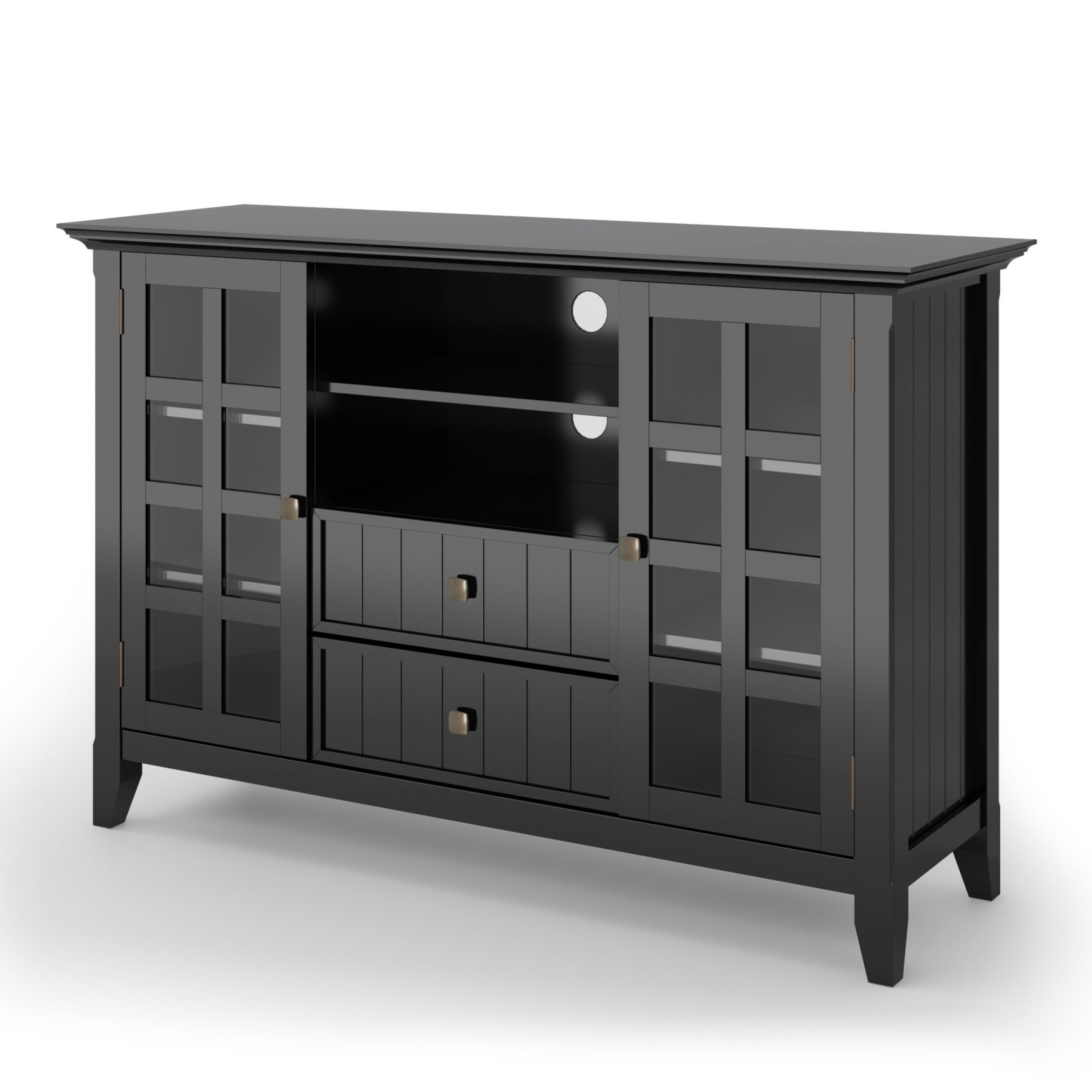 Brooklyn + Max Brunswick Solid Wood 53 Inch Wide Rustic Tv Pertaining To Bromley Extra Wide Oak Tv Stands (View 3 of 20)