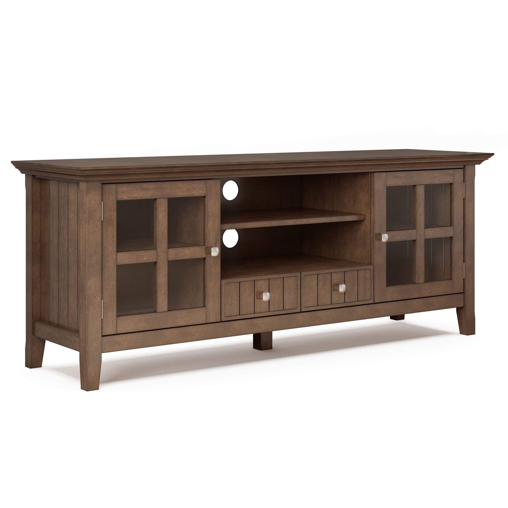 """Brooklyn + Max Brunswick Solid Wood 60 Inch Wide Rustic Tv For Margulies Tv Stands For Tvs Up To 60"""" (View 14 of 20)"""