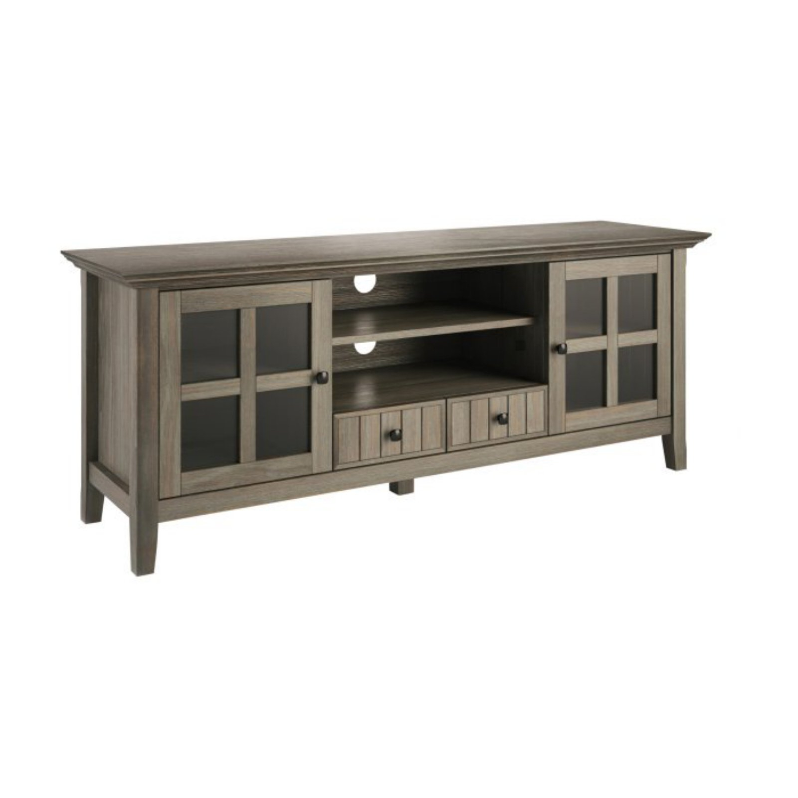 """Brooklyn + Max Brunswick Solid Wood 60 Inch Wide Rustic Tv With Solid Wood Tv Stands For Tvs Up To 65"""" (View 10 of 20)"""
