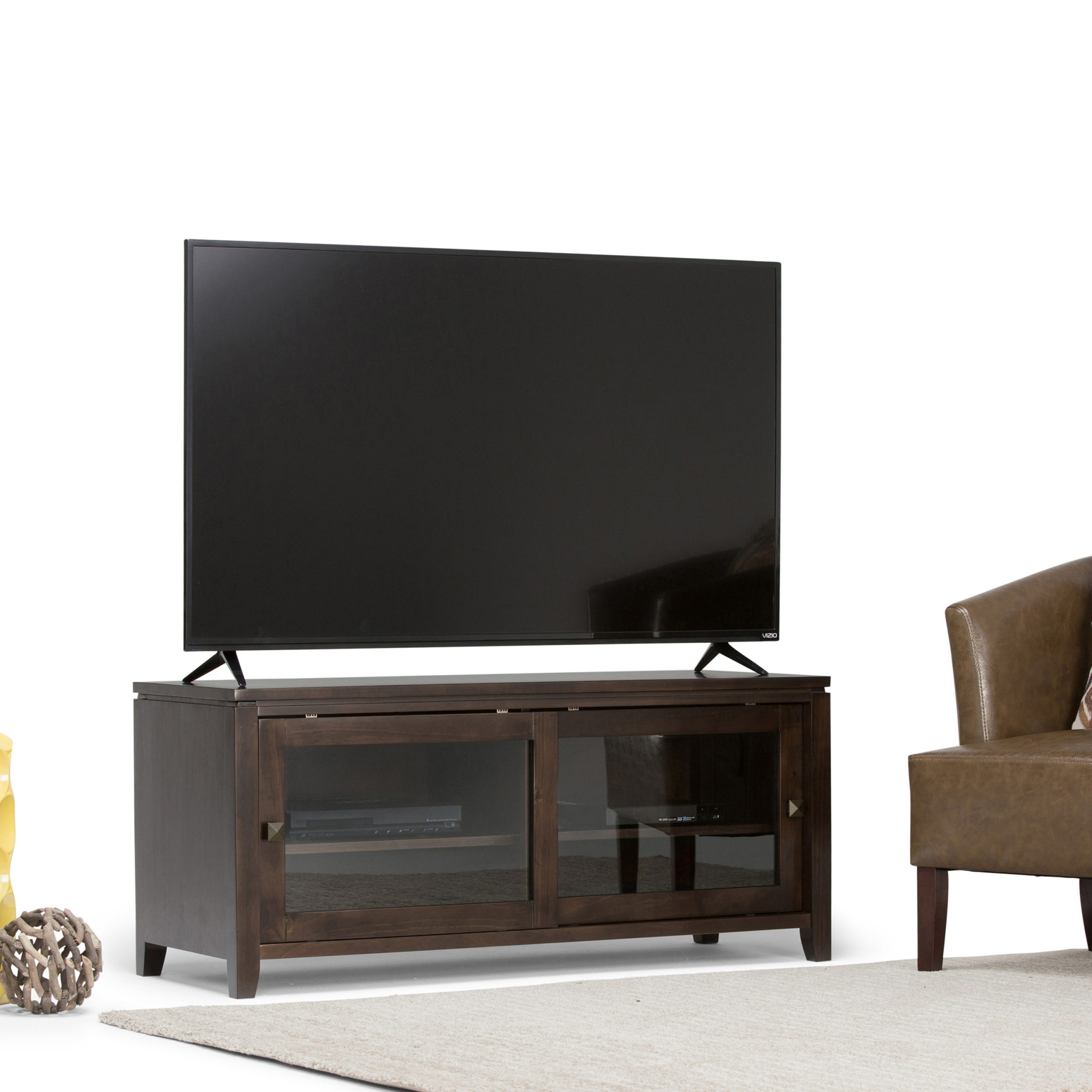 Brooklyn + Max City Solid Wood 48 Inch Wide Contemporary With Orsen Wide Tv Stands (View 5 of 20)