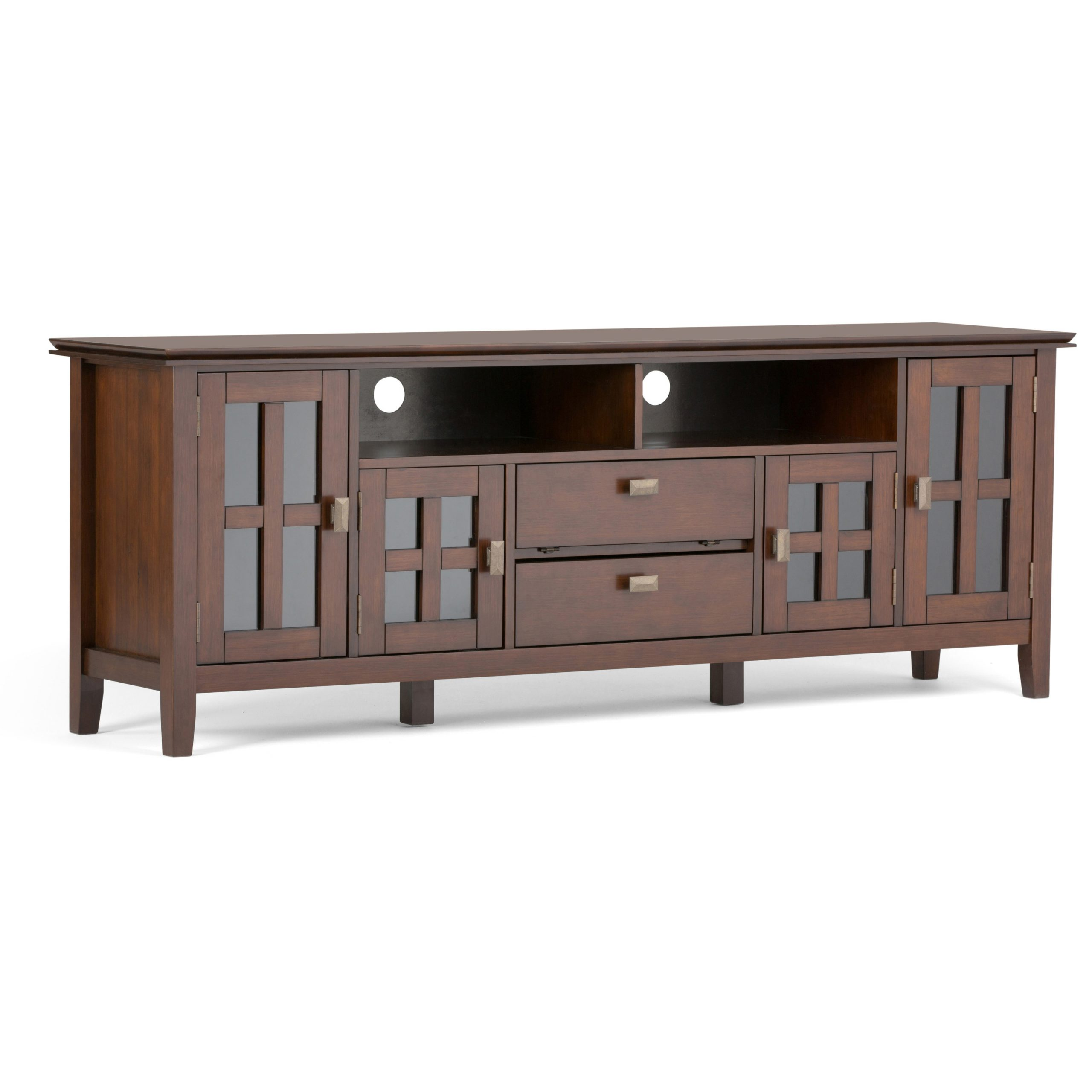 Brooklyn + Max Holden Solid Wood 72 Inch Wide Contemporary Pertaining To Greenwich Wide Tv Stands (View 7 of 20)