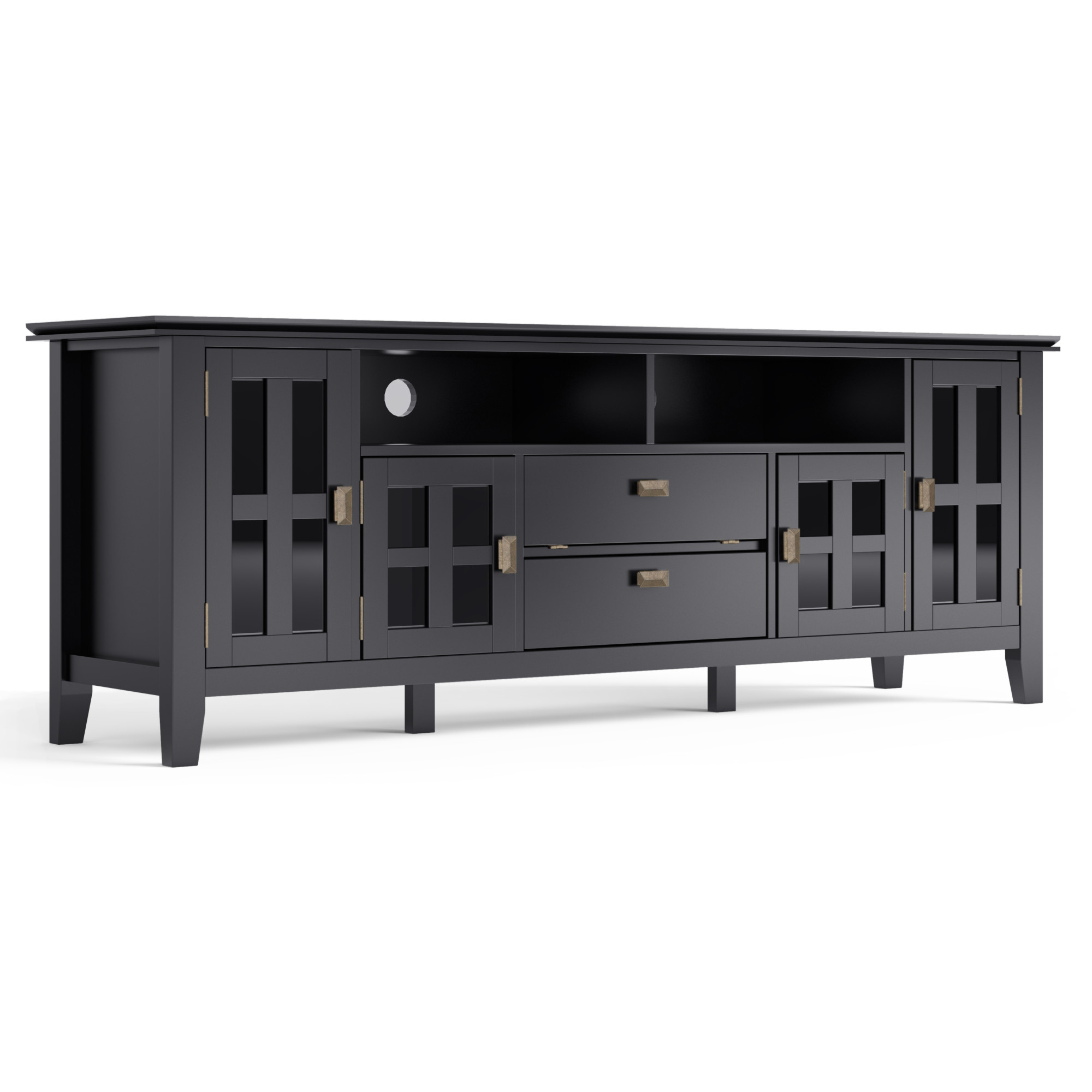 Brooklyn + Max Holden Solid Wood 72 Inch Wide Contemporary Pertaining To Indi Wide Tv Stands (View 16 of 20)