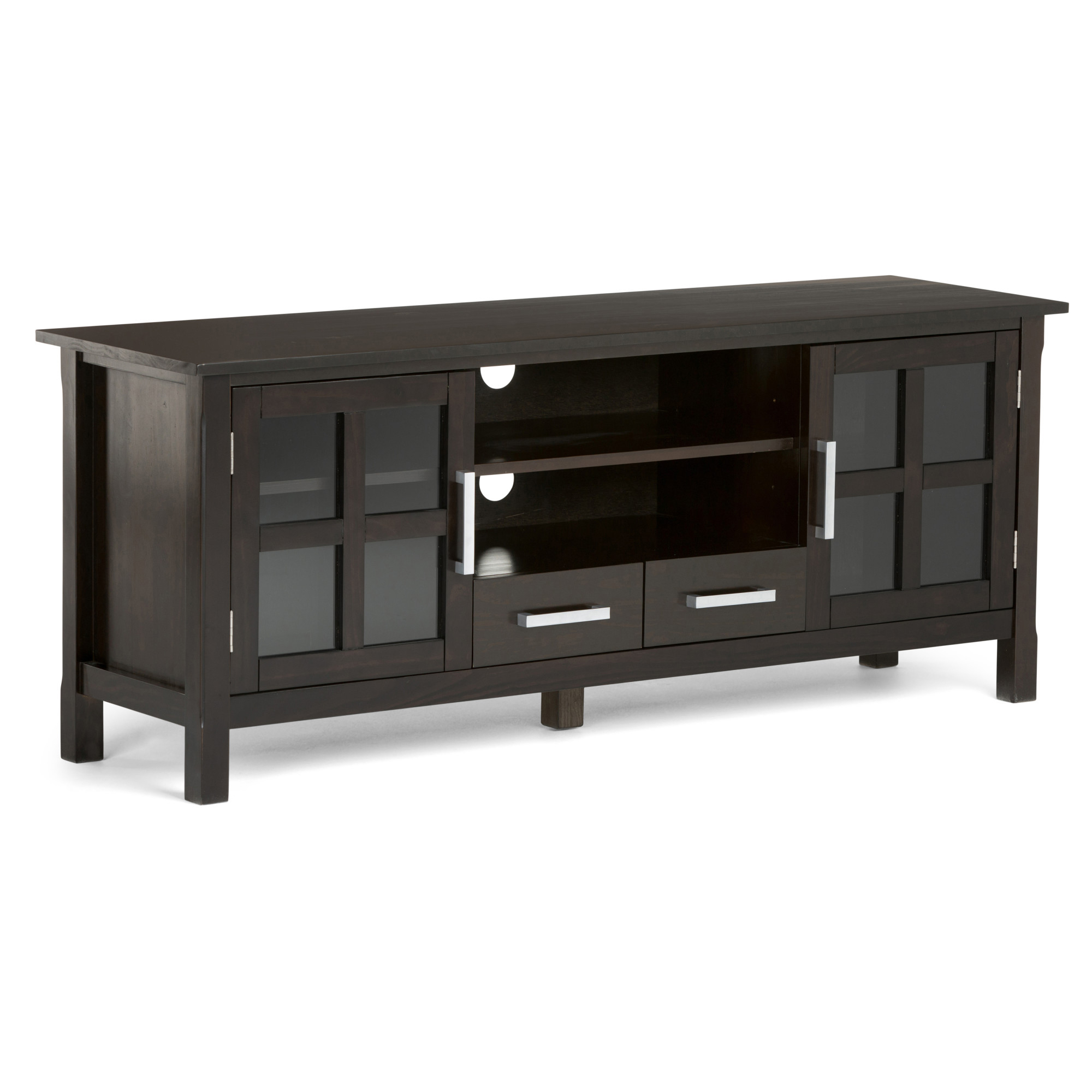 Brooklyn + Max Providence Solid Wood 60 Inch Wide With Regard To Bromley Extra Wide Oak Tv Stands (View 14 of 20)