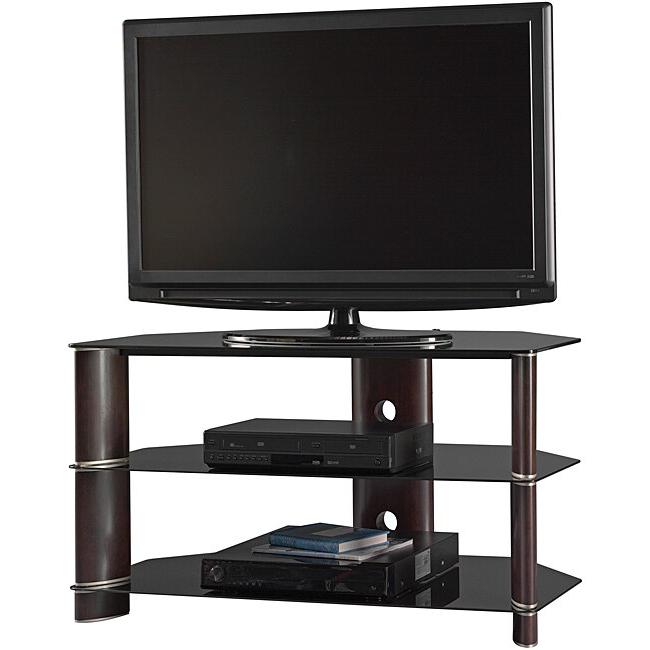 "Bush Furniture Segments 42 Inch Corner Tv Stand – 13822841 Throughout Basie 2 Door Corner Tv Stands For Tvs Up To 55"" (View 8 of 20)"