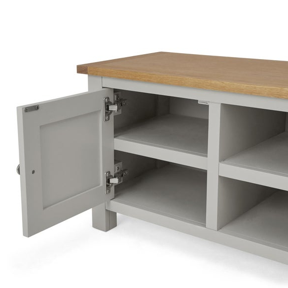 Buy Bromley Grey Wide Tv Stand Grey Online In The Uk | Kasera With Bromley Extra Wide Oak Tv Stands (View 8 of 20)