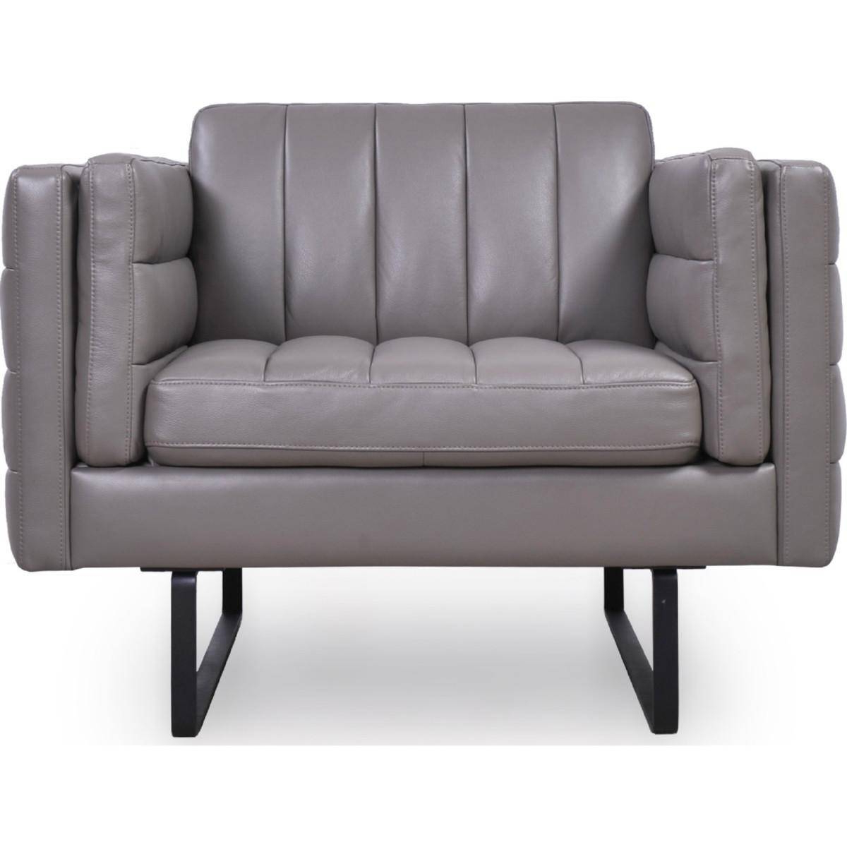 Buy Moroni Orson 582 Arm Chairs In Gray, Top Grain Leather In Orsen Tv Stands (View 10 of 20)
