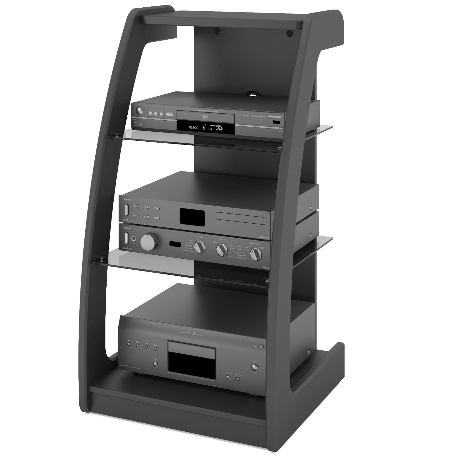 Buy Sonax Ml 1220 Milan 21 Inch Wide Midnight Black In Milan Glass Tv Stands (View 10 of 20)