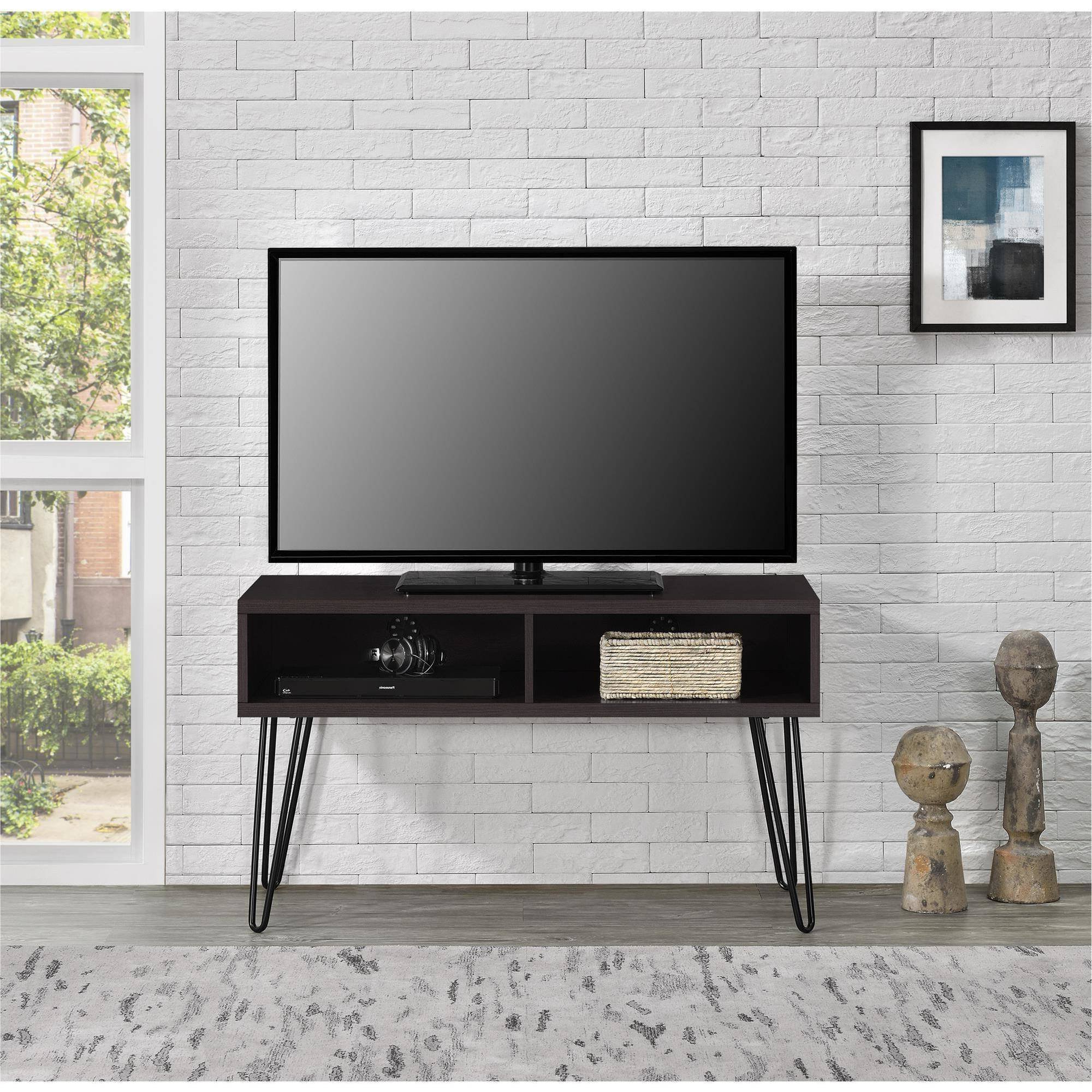 """Buy Stylish Tv Stand For Tvs Up To 42"""", 4 Open Storage And Within Mainstays 4 Cube Tv Stands In Multiple Finishes (View 6 of 20)"""
