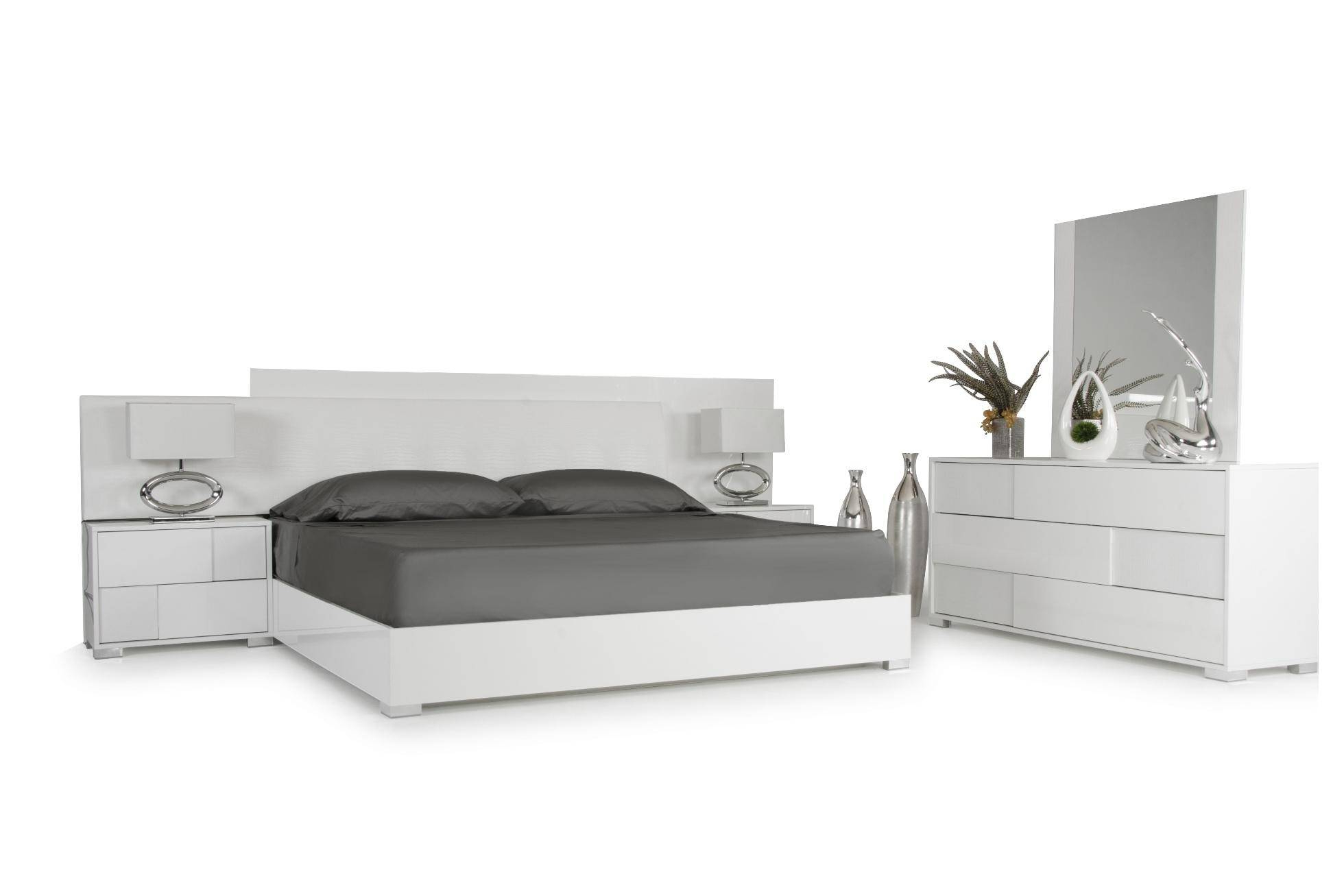 Buy Vig Modrest Monza Nightstand In White, Wood, Stainless With Monza Tv Stands (View 2 of 20)