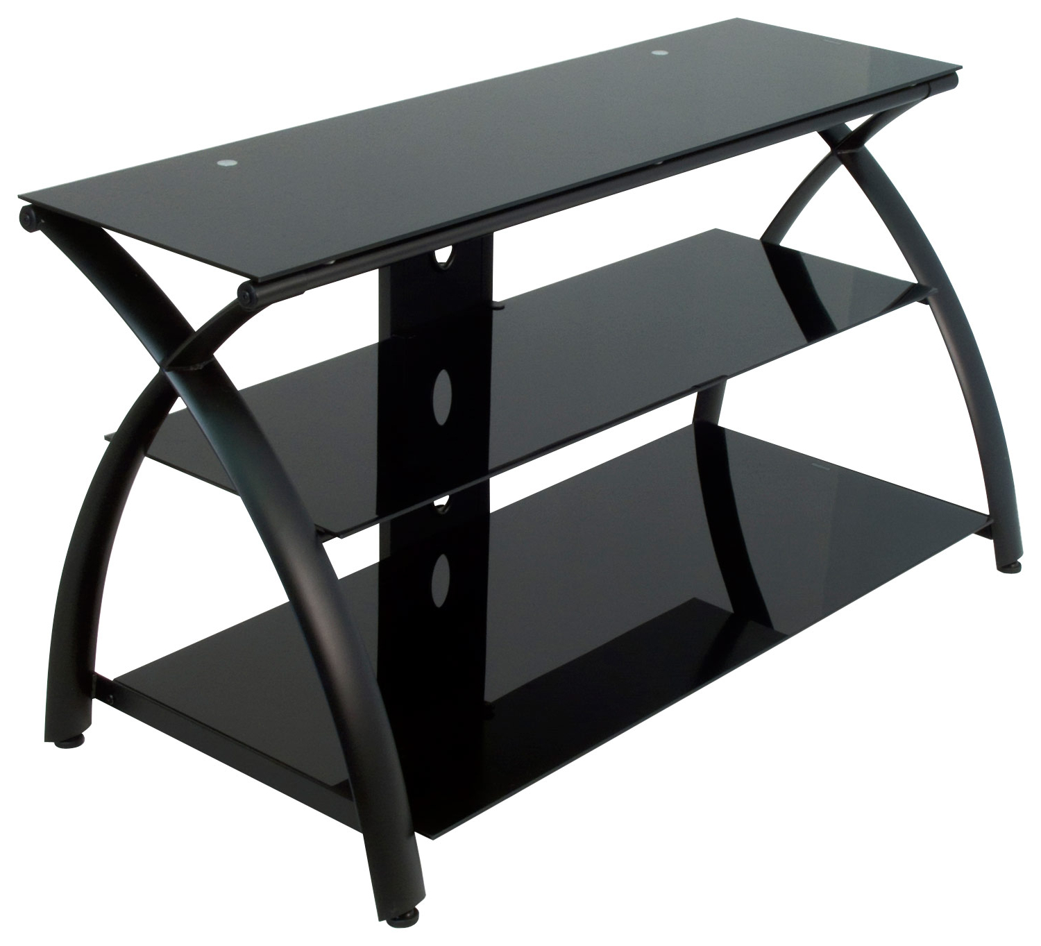 Calico Designs Futura 3 Tier Glass Tv Stand For Most Flat Inside Tier Entertainment Tv Stands In Black (View 18 of 20)