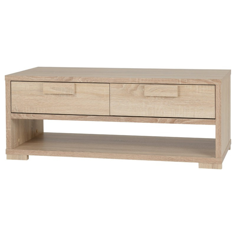 Cambourne 2 Drawer Coffee Table Sonoma Oak Effect Veneer In Cambourne Tv Stands (View 1 of 20)