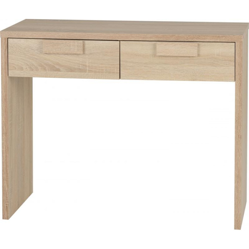 Cambourne 2 Drawer Dressing Table In Sonoma Oak Effect Veneer In Cambourne Tv Stands (View 13 of 20)
