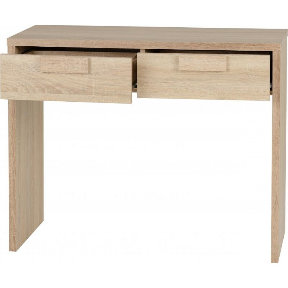 Cambourne 2 Drawer Dressing Table In Sonoma Oak Effect Veneer Pertaining To Cambourne Tv Stands (View 12 of 20)