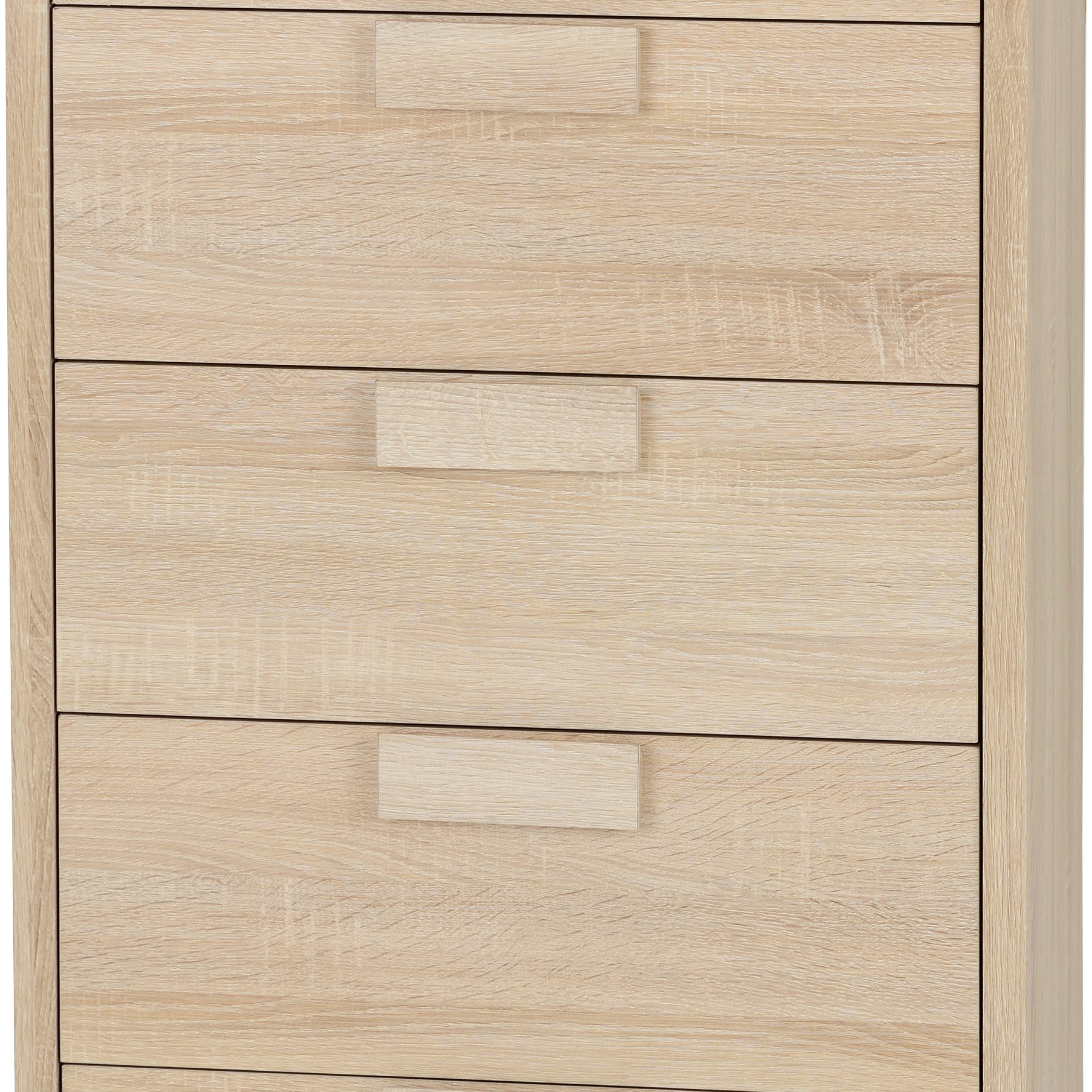 Cambourne 5 Drawer Chest In Sonoma Oak Effect Veneer Intended For Cambourne Tv Stands (View 9 of 20)