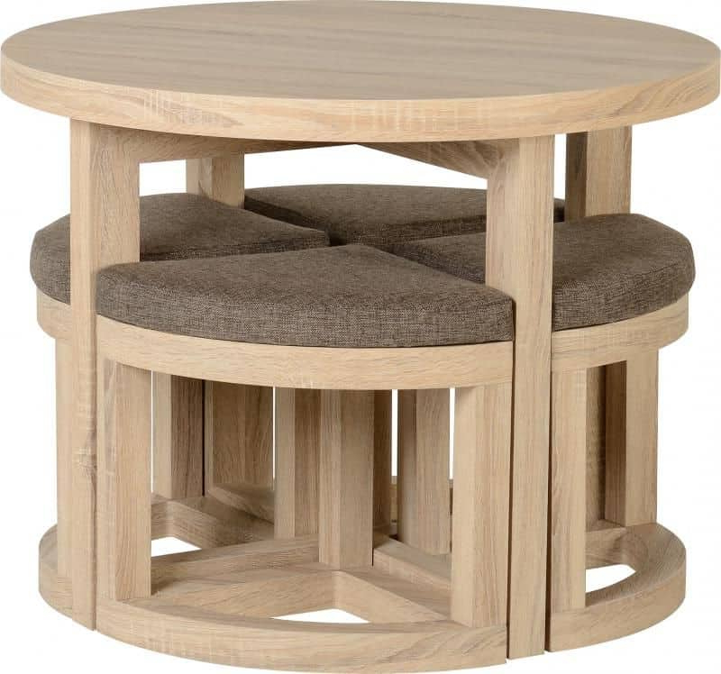 Cambourne Stowaway Dining Set – Sonoma Oak Effect Veneer With Cambourne Tv Stands (View 15 of 20)