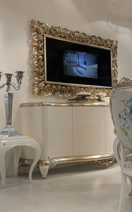 Capri Mirror Frame With Tv Unveiled At Milan Design Week Pertaining To Milan Glass Tv Stands (View 9 of 20)