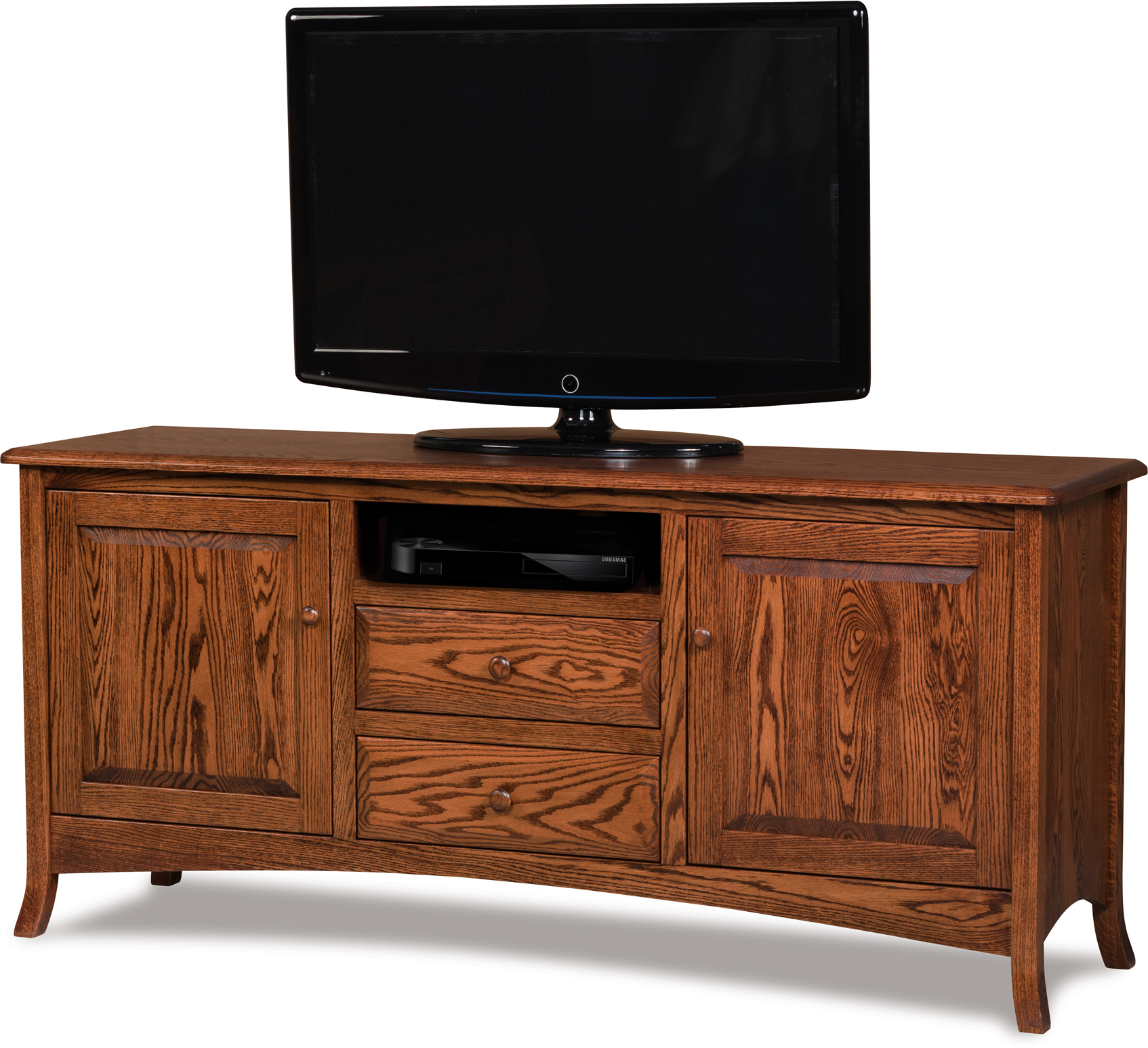 Carlisle Two Drawer Media Stand   Indiana Amish Carlisle Throughout Manhattan 2 Drawer Media Tv Stands (View 9 of 20)