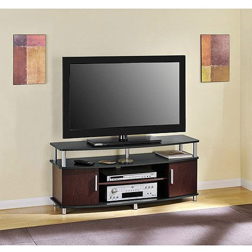 """Carson Tv Stand, For Tvs Up To 50"""", Multiple Finishes In Whalen Shelf Tv Stands With Floater Mount In Weathered Dark Pine Finish (View 12 of 20)"""