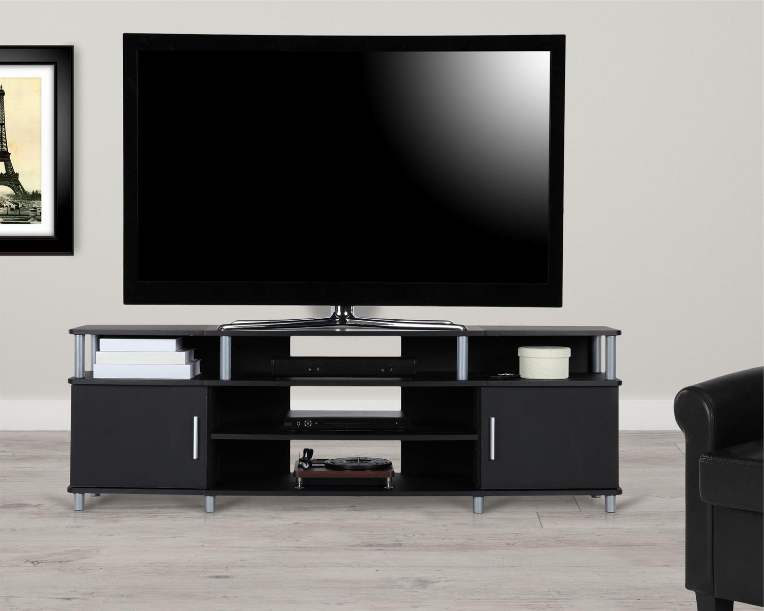 """Carson Tv Stand For Tvs Up To 70"""", Black   Walmart Canada Inside Carson Tv Stands In Black And Cherry (View 2 of 20)"""