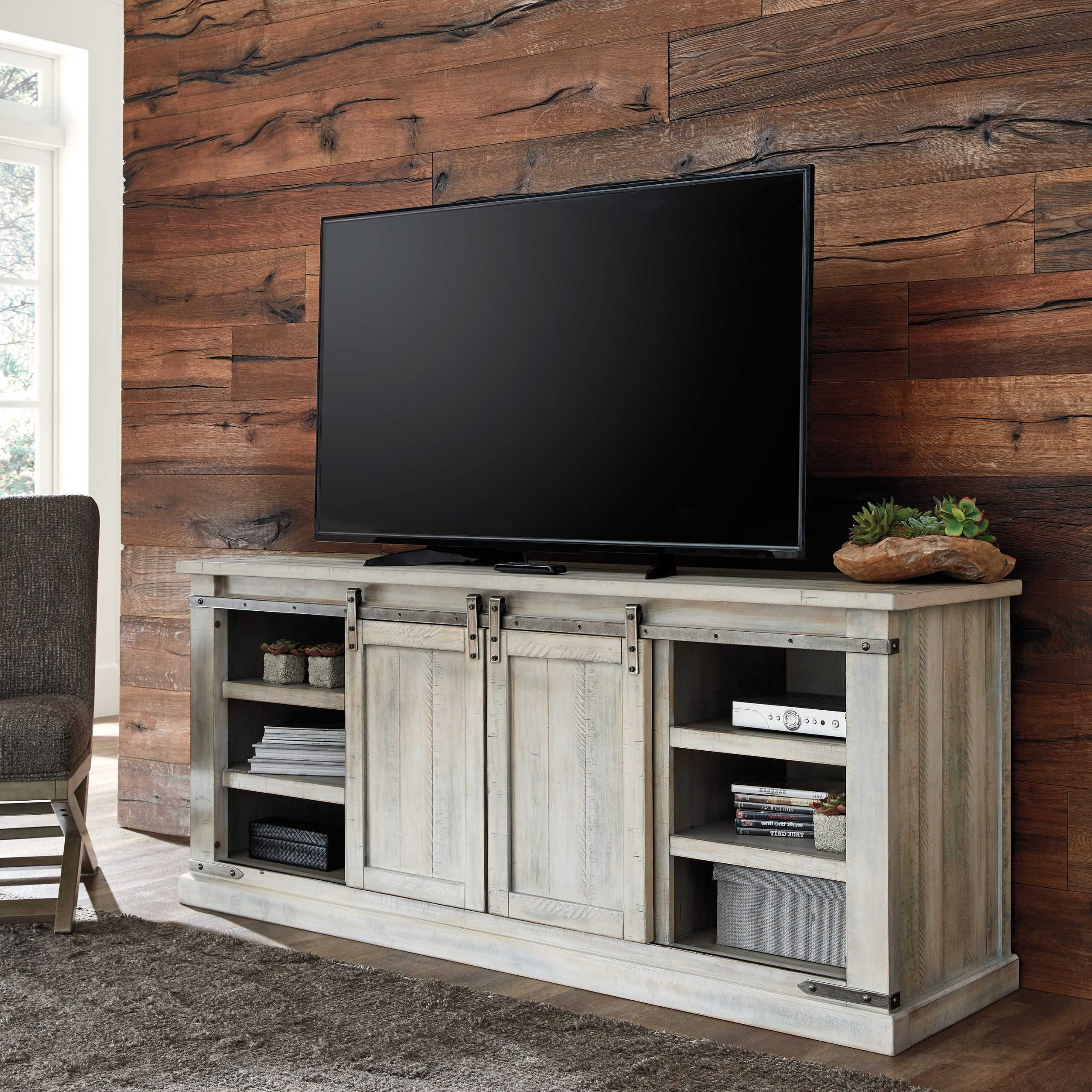 """Carynhurst 70"""" Tv Standsignature Designashley Throughout Lorraine Tv Stands For Tvs Up To 70"""" (View 9 of 20)"""