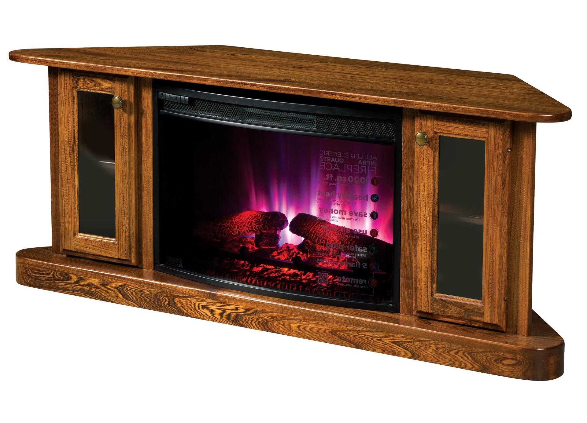 Cascadia Corner Electric Fireplace Tv Stand From With Regard To Lucy Cane Cream Corner Tv Stands (View 12 of 20)