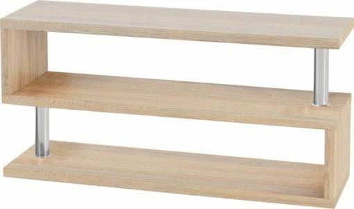 Charisma Tv Stand – Light Sonoma Oak Effect Veneer/chrome Regarding Cambourne Tv Stands (View 17 of 20)