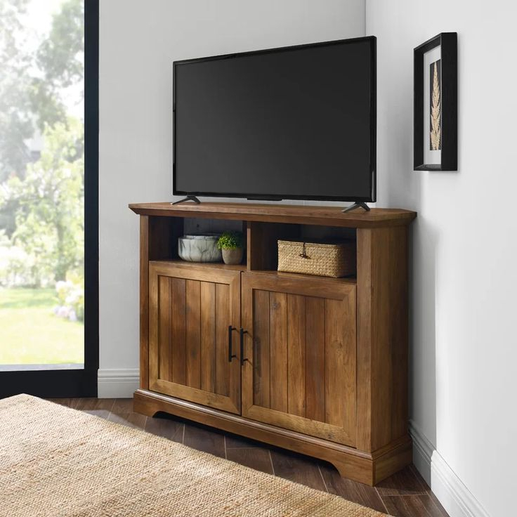 """Charlton Home Tailynn Tv Stand For Tvs Up To 48"""" & Reviews Regarding Grooved Door Corner Tv Stands (View 1 of 20)"""