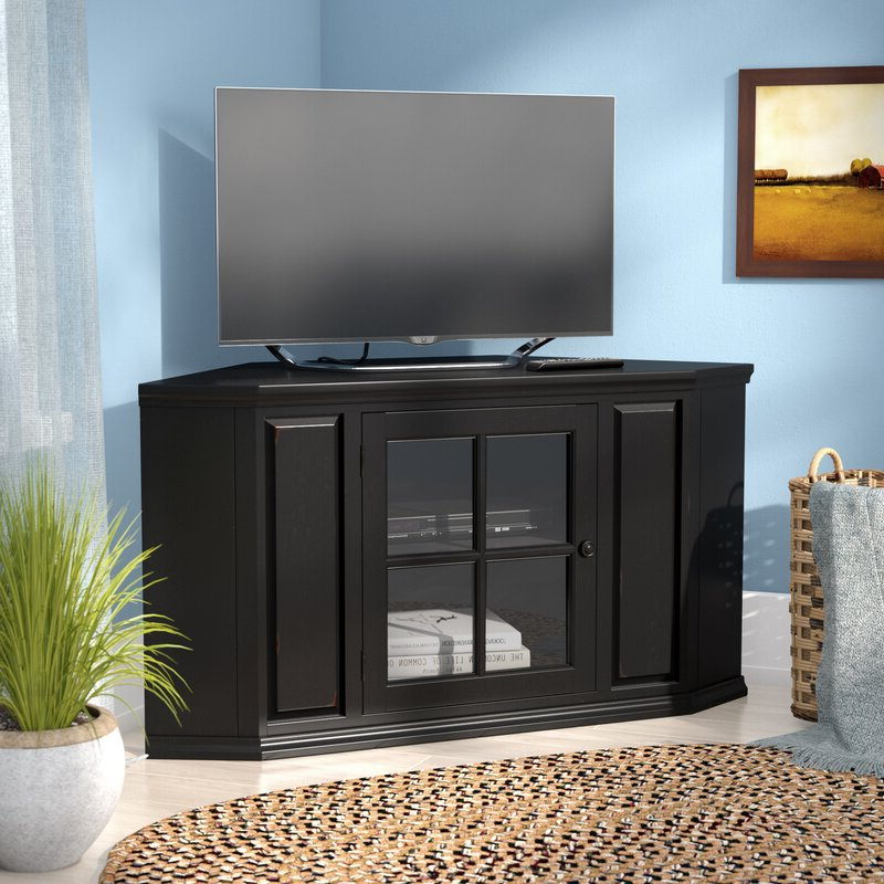"""Charlton Home® Tucci Corner Tv Stand For Tvs Up To 50 In Camden Corner Tv Stands For Tvs Up To 50"""" (View 13 of 20)"""