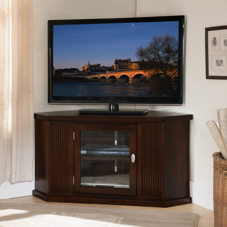"""Charlton Home® Tucci Corner Tv Stand For Tvs Up To 50 With Regard To Camden Corner Tv Stands For Tvs Up To 50"""" (View 7 of 20)"""