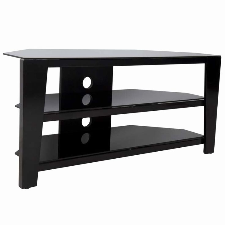 Cheap Black Tv Stand Elegant Avf Vico 55 Inch Corner Tv Within Contemporary Black Tv Stands Corner Glass Shelf (View 13 of 20)