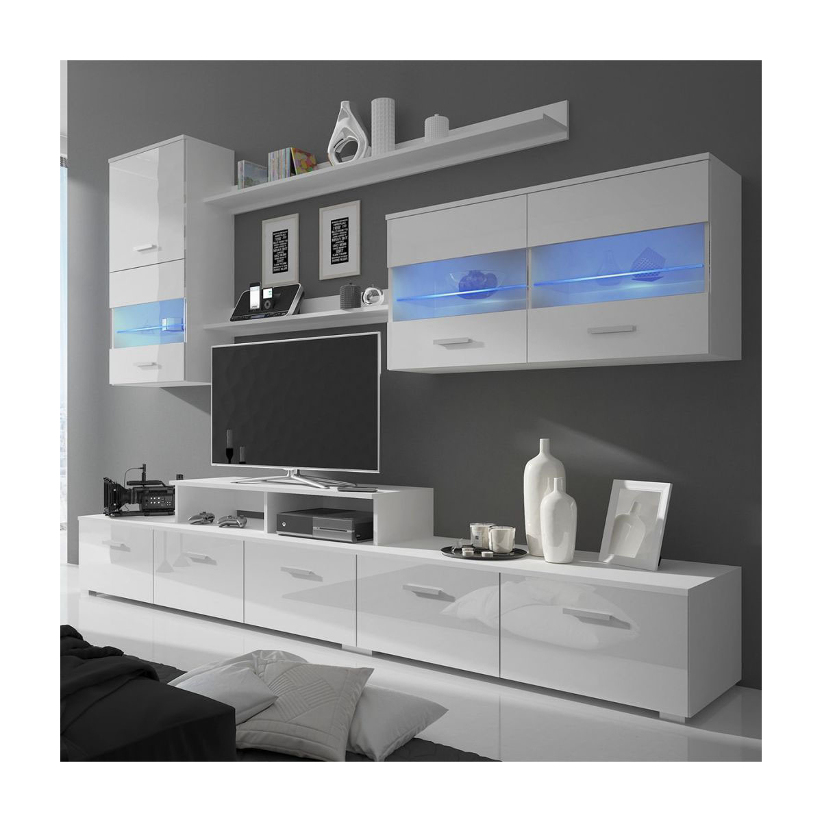 China Latest Design Led Glossy Tv Stand Wall Hall Cabinet With Regard To 57'' Led Tv Stands Cabinet (View 12 of 20)