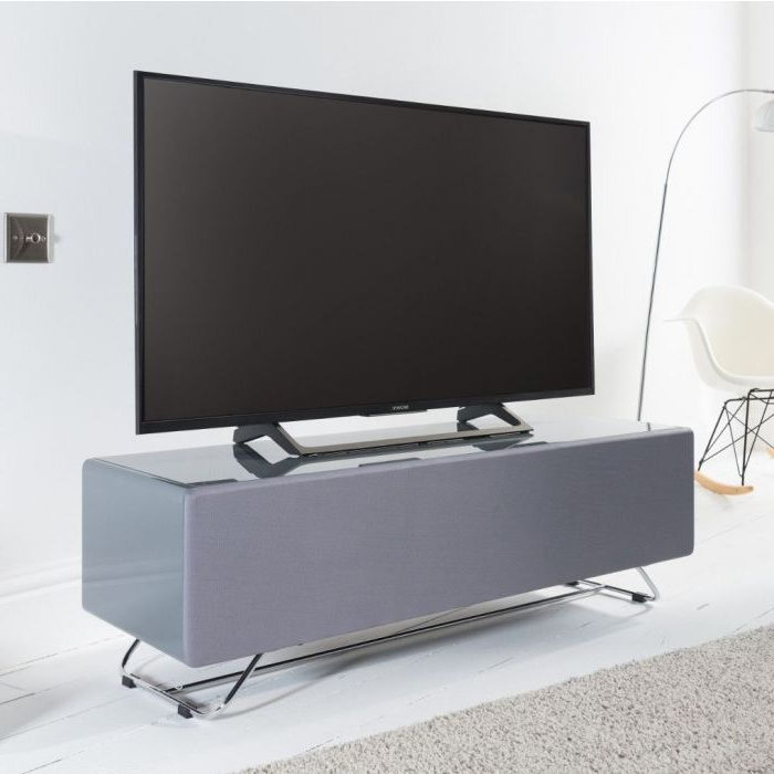 Chromium Concept 120cm Tv Stand In Greyalphason Intended For Chromium Tv Stands (View 8 of 20)