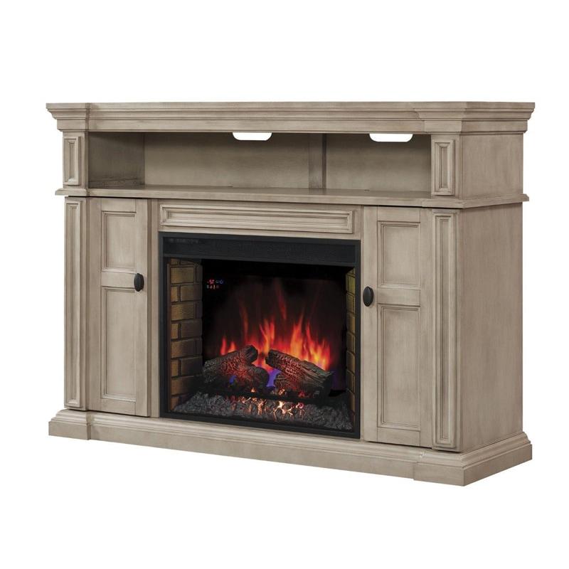 "Classicflame Wyatt 58"" 2 Shelf Electric Fireplace Tv Throughout Electric Fireplace Tv Stands With Shelf (View 15 of 20)"