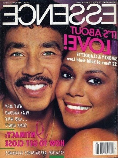 """Claudette & Smokey Robinson On The Cover Of Essence, 1982 Pertaining To Lisa Marie Tv Stands For Tvs Up To 65"""" (View 11 of 20)"""