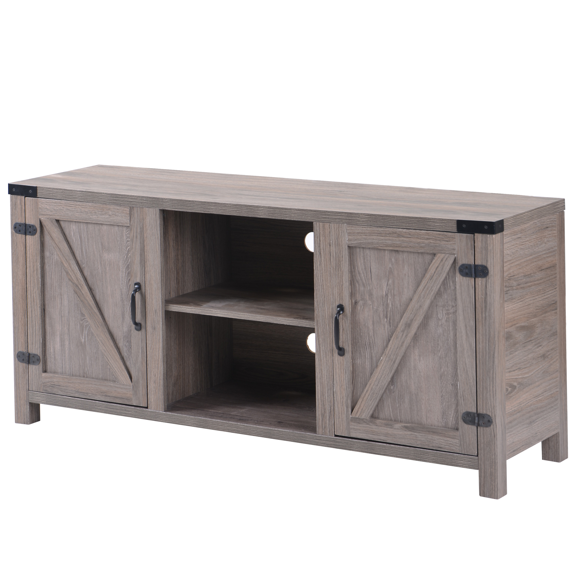 Clearance! 58'' Farmhouse Tv Stands For Tvs Up To 65 Inside Tv Stands With Cable Management (View 17 of 20)