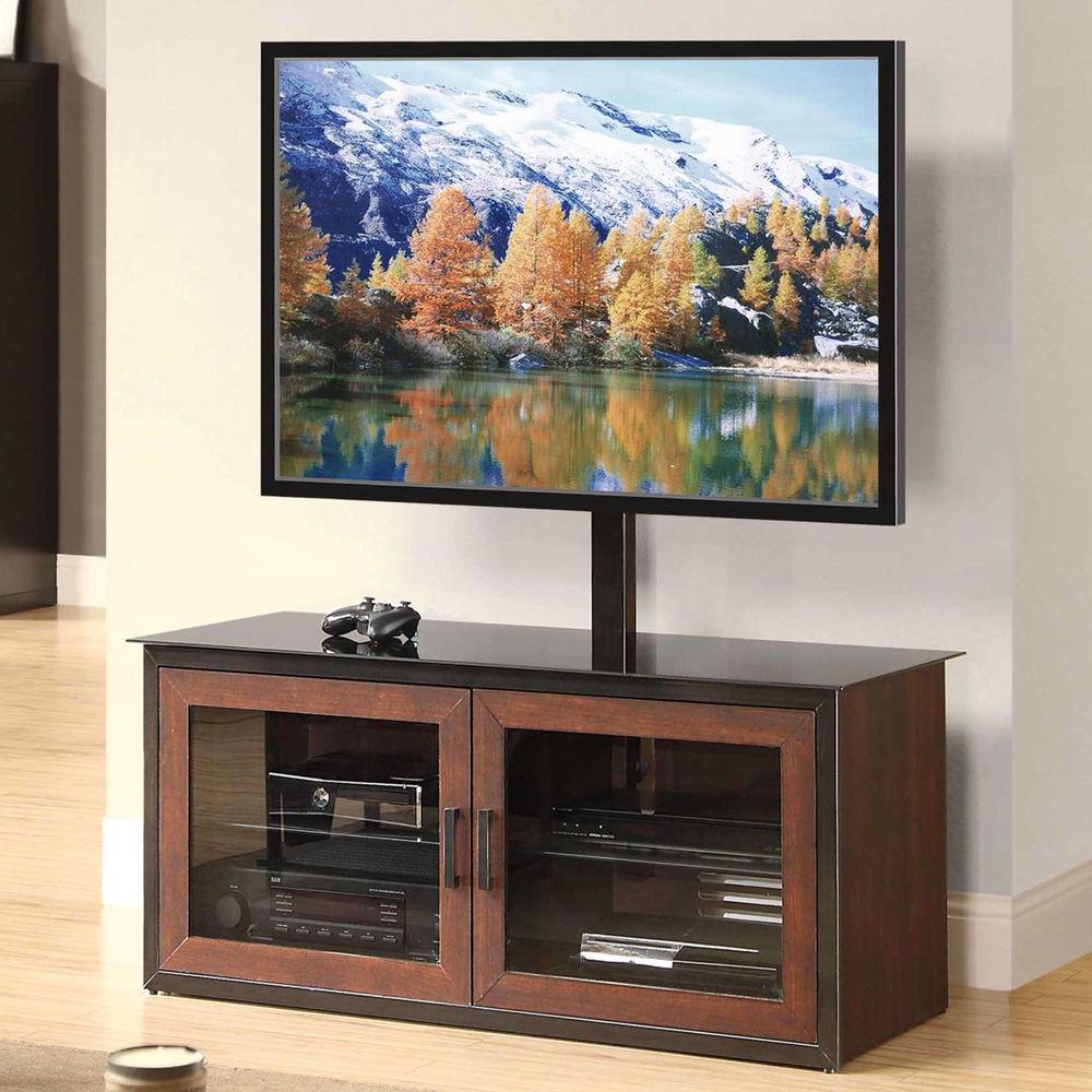 "Closed Glass Door 3 In 1 Entertainment Center Cabinet Tv With Regard To Glass Doors Corner Tv Stands For Tvs Upto 42"" (View 8 of 20)"