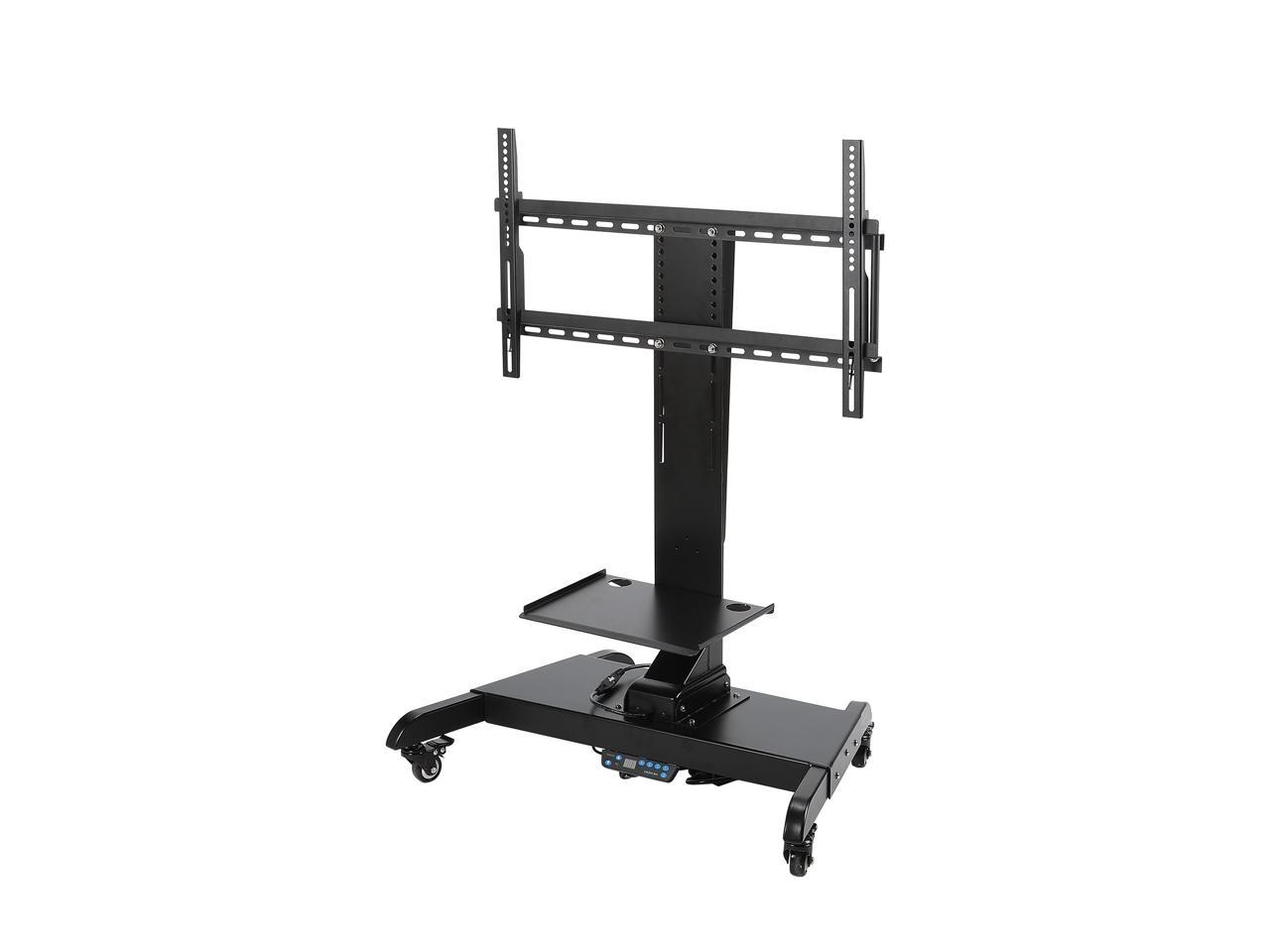 Co Z Mobile Motorized Tv Lift Floor Stands Rolling Tv Within Mount Factory Rolling Tv Stands (View 7 of 20)