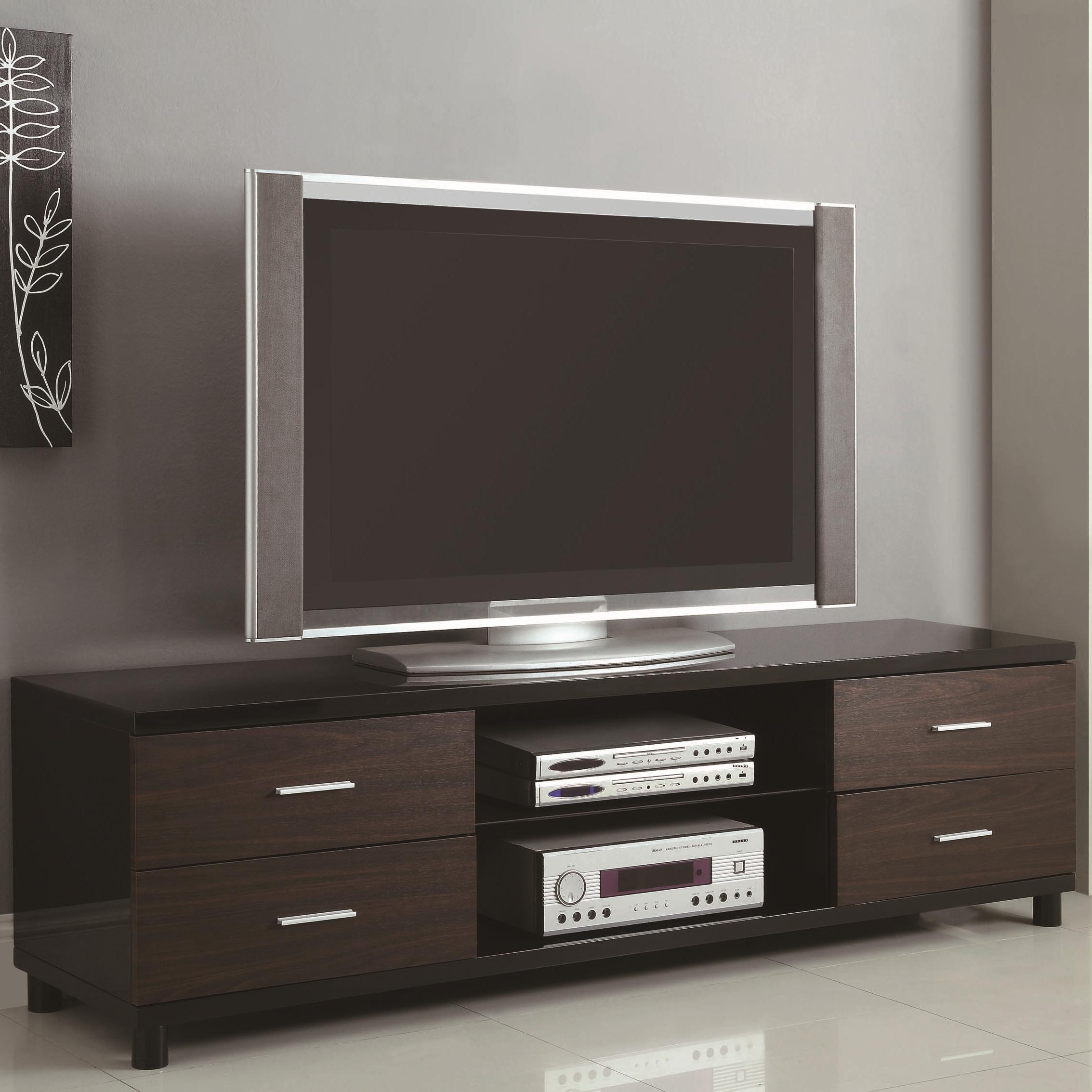 Coaster Tv Stands 4 Drawer Two Tone Tv Stand With 2 In Manhattan 2 Drawer Media Tv Stands (View 18 of 20)