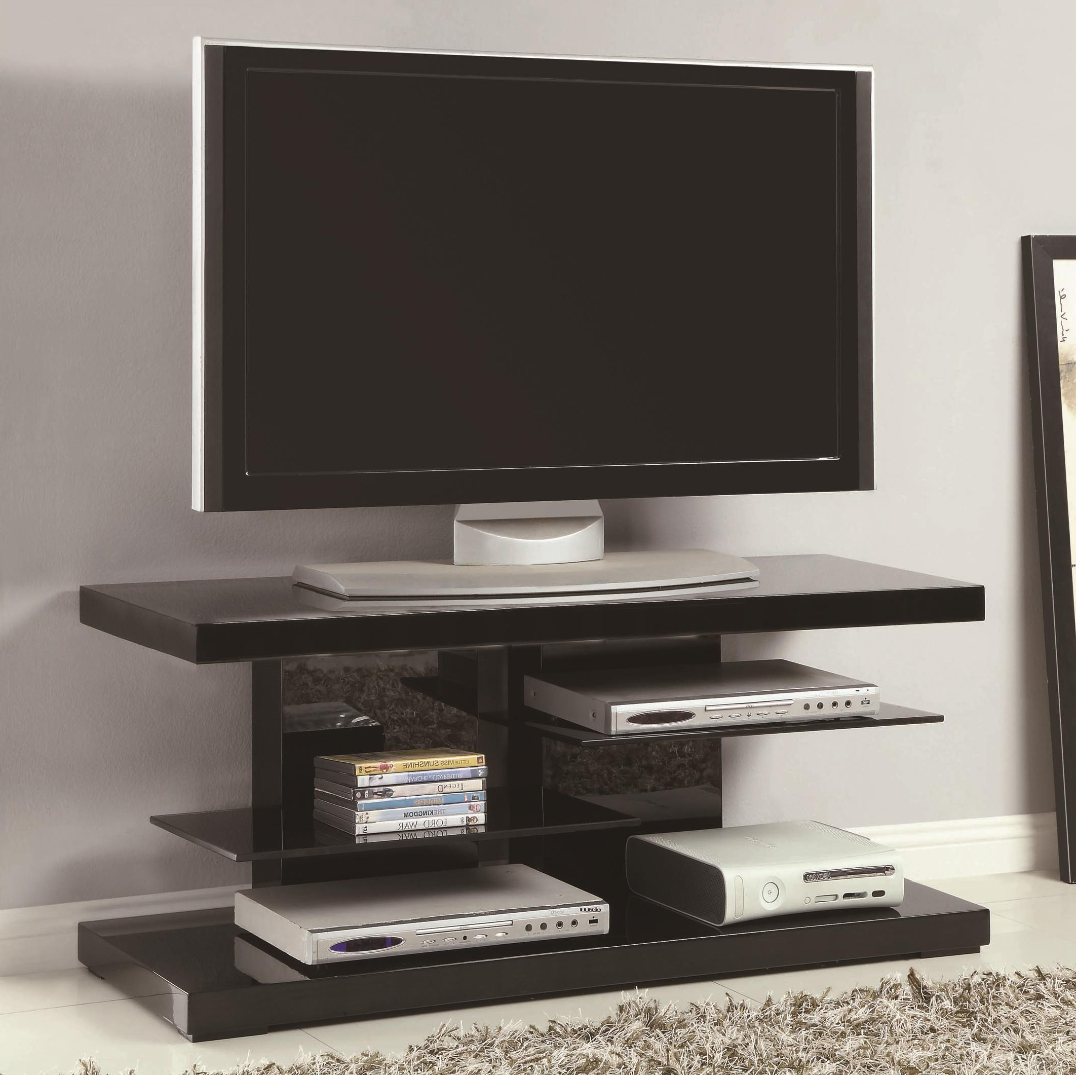 Coaster Tv Stands Modern Tv Stand With Alternating Glass Inside Contemporary Black Tv Stands Corner Glass Shelf (View 7 of 20)