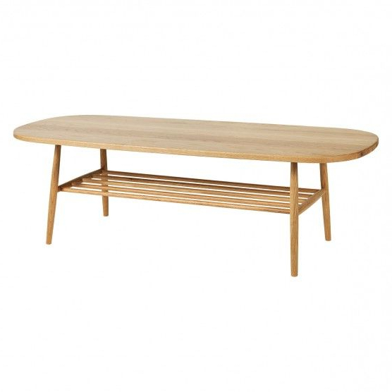 Coffee Table With Shelf Uk : Oak Constructed Hilden Wooden Pertaining To Emmett Sonoma Tv Stands With Coffee Table With Metal Frame (View 4 of 20)