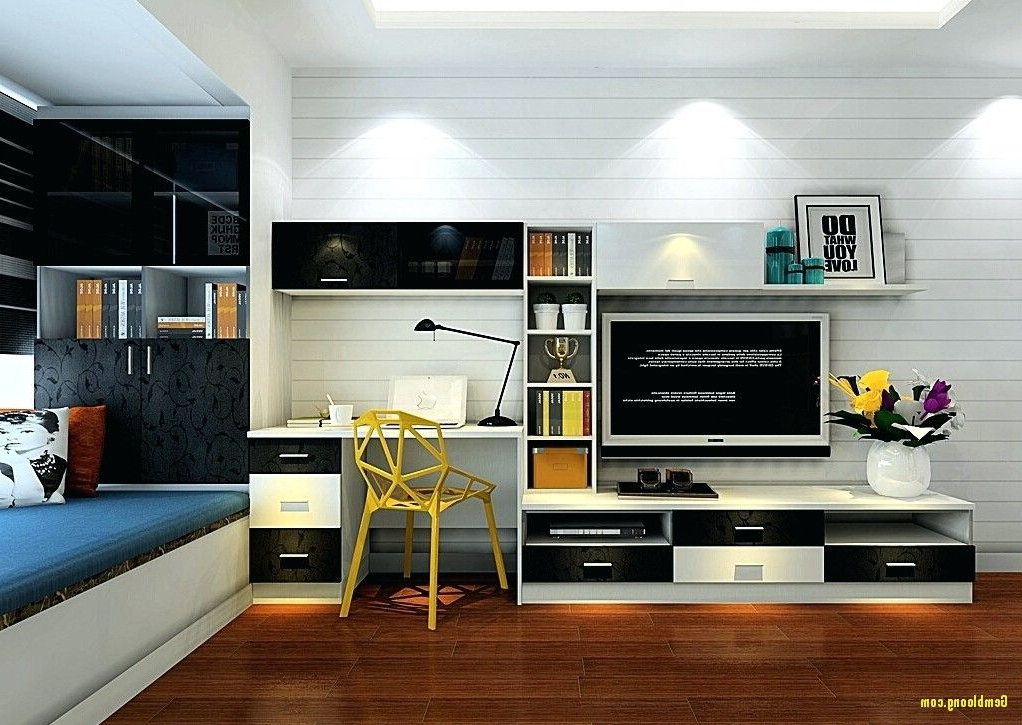Computer Desk Tv Stand Combo Lovely And Bo   Desk In With Regard To Space Saving Gaming Storage Tv Stands (View 9 of 20)