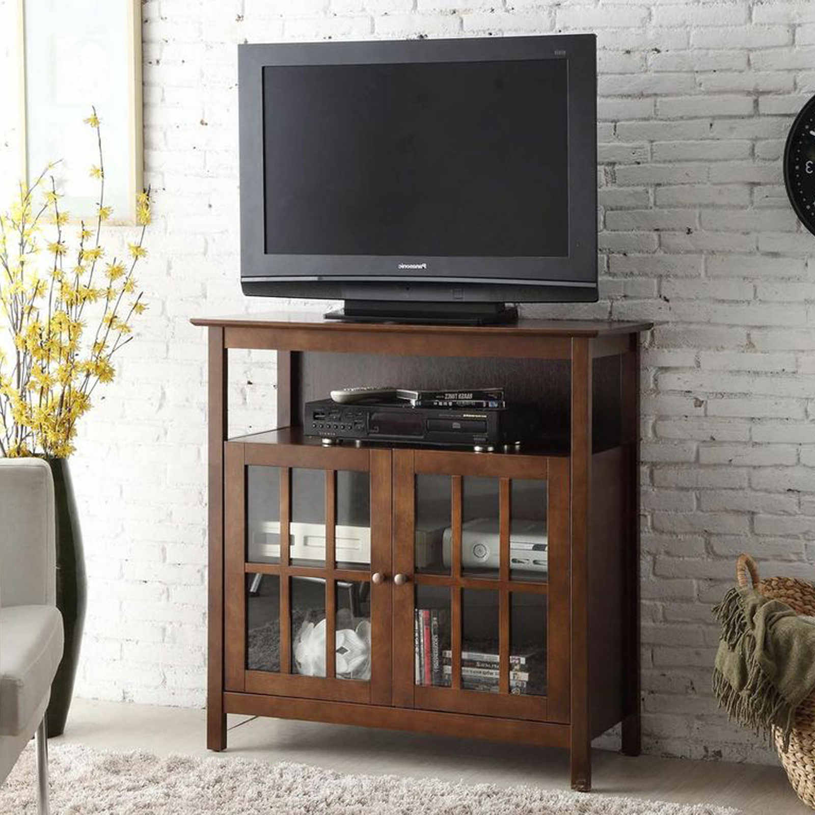 Convenience Concepts Big Sur Highboy Tv Stand – Tv Stands Inside Corner Entertainment Tv Stands (View 9 of 20)