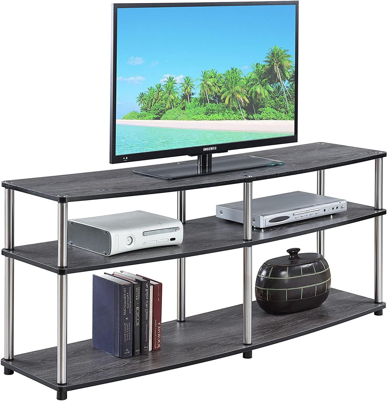 """Convenience Concepts Designs2go 3 Tier 60"""" Tv Stand Regarding Zena Corner Tv Stands (View 10 of 20)"""