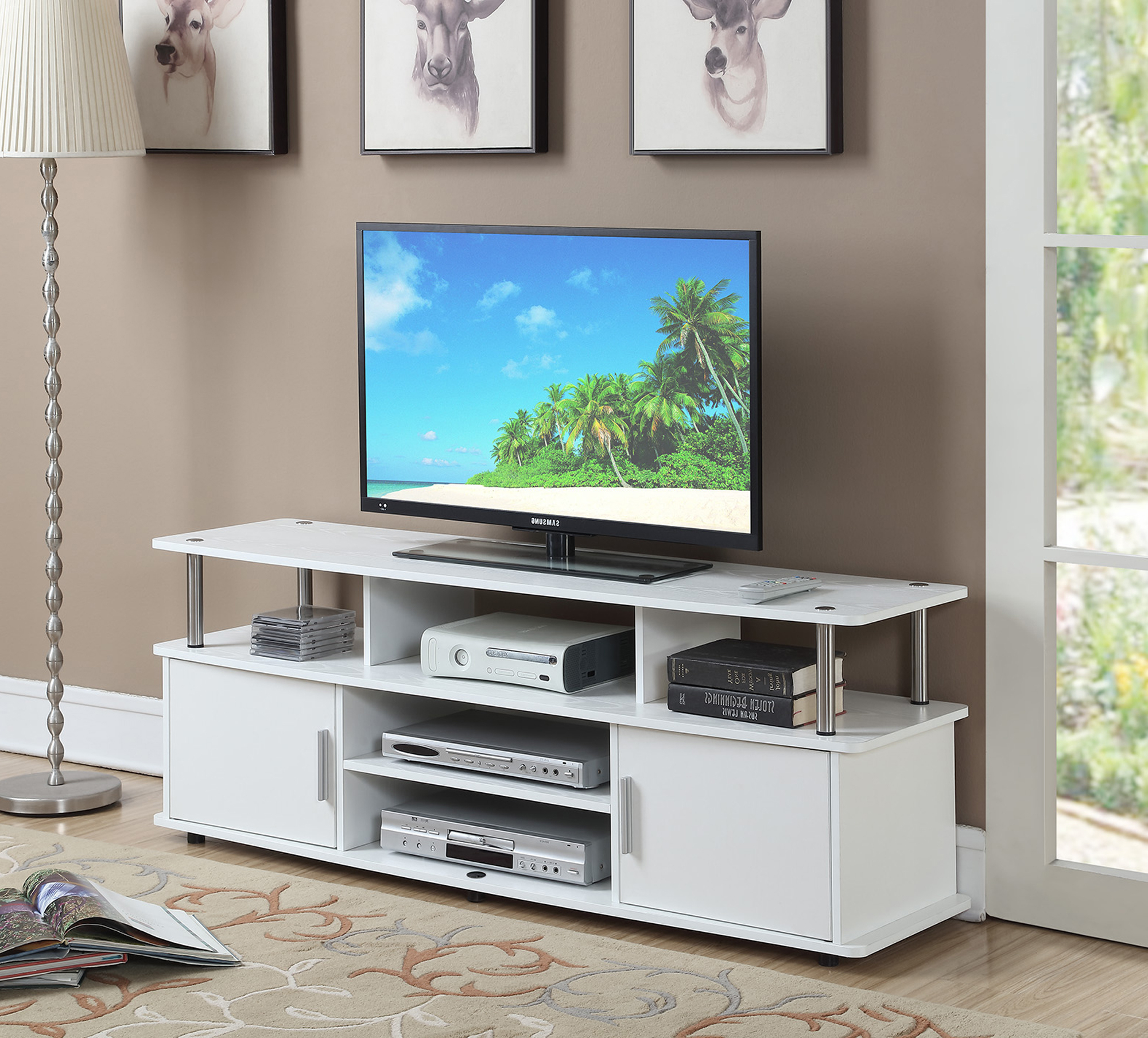"""Convenience Concepts Designs2go 60"""" Monterey Tv Stand With Regard To Hal Tv Stands For Tvs Up To 60"""" (View 13 of 20)"""