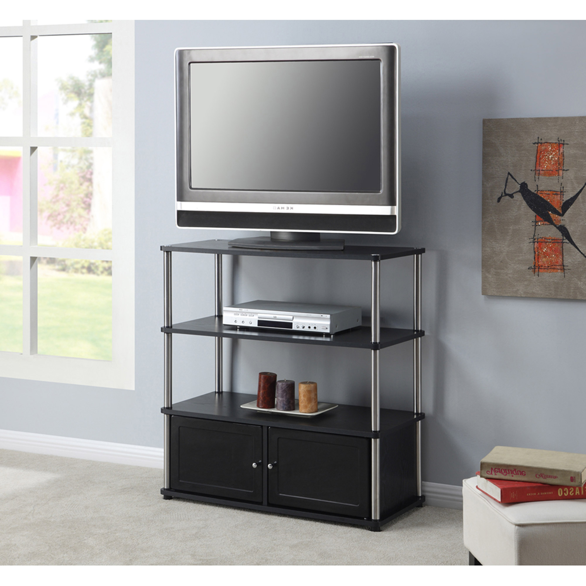 """Convenience Concepts Designs2go Highboy Tv Stand, For Tvs With Colleen Tv Stands For Tvs Up To 50"""" (View 11 of 20)"""