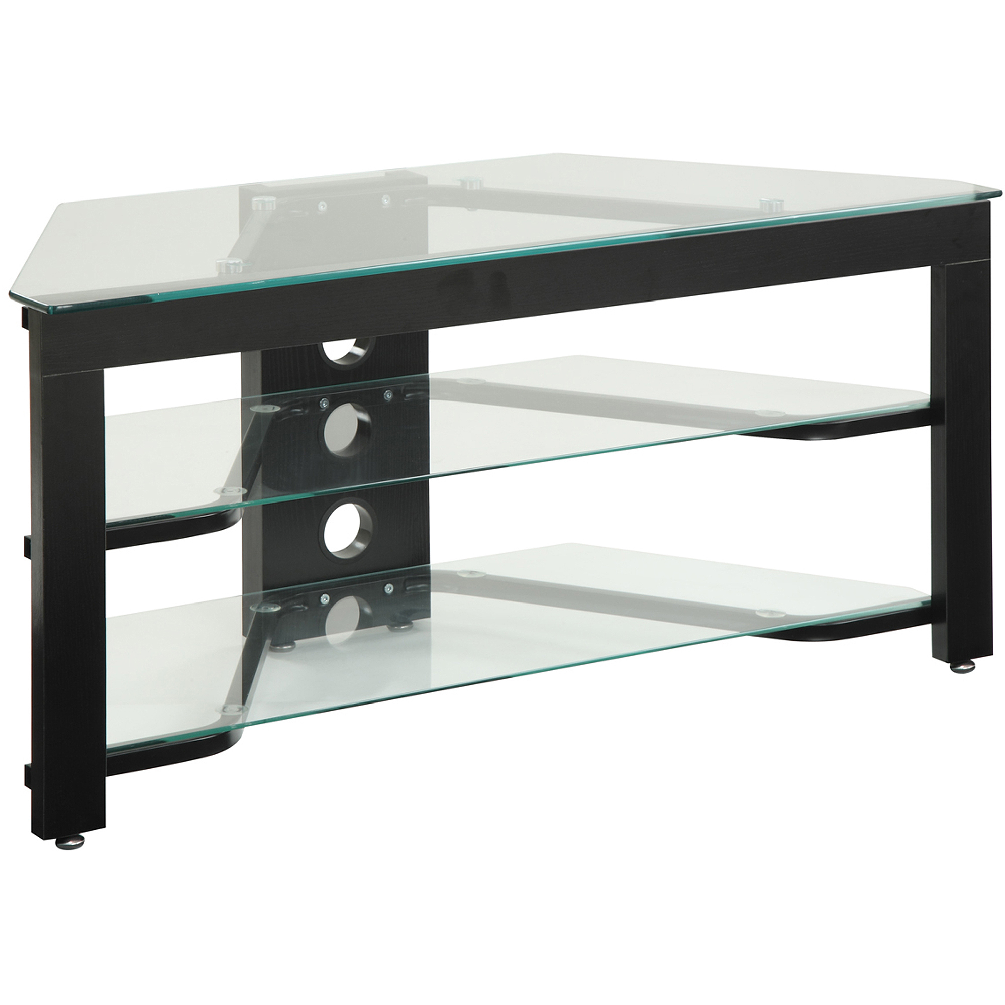"""Convenience Concepts Designs2go Wood And Glass Tv Stand Intended For Glass Shelves Tv Stands For Tvs Up To 60"""" (View 14 of 20)"""