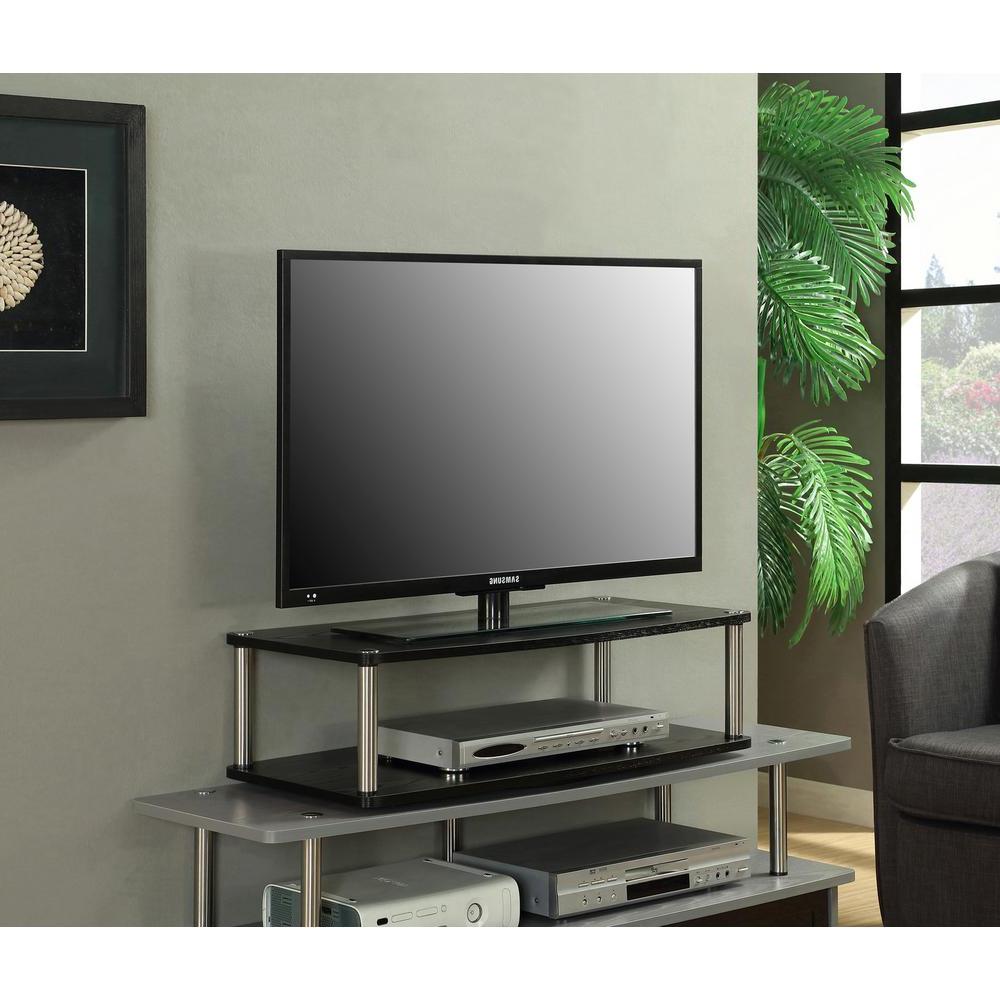 Convenience Concepts Designs2go Xl 2 Tier Tv And Monitor In Tier Entertainment Tv Stands In Black (View 11 of 20)