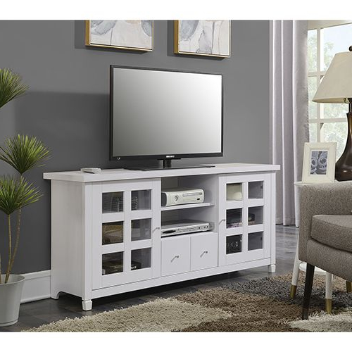 """Convenience Concepts Newport Park Lane White 60 Inch Tv Within Kasen Tv Stands For Tvs Up To 60"""" (View 12 of 20)"""
