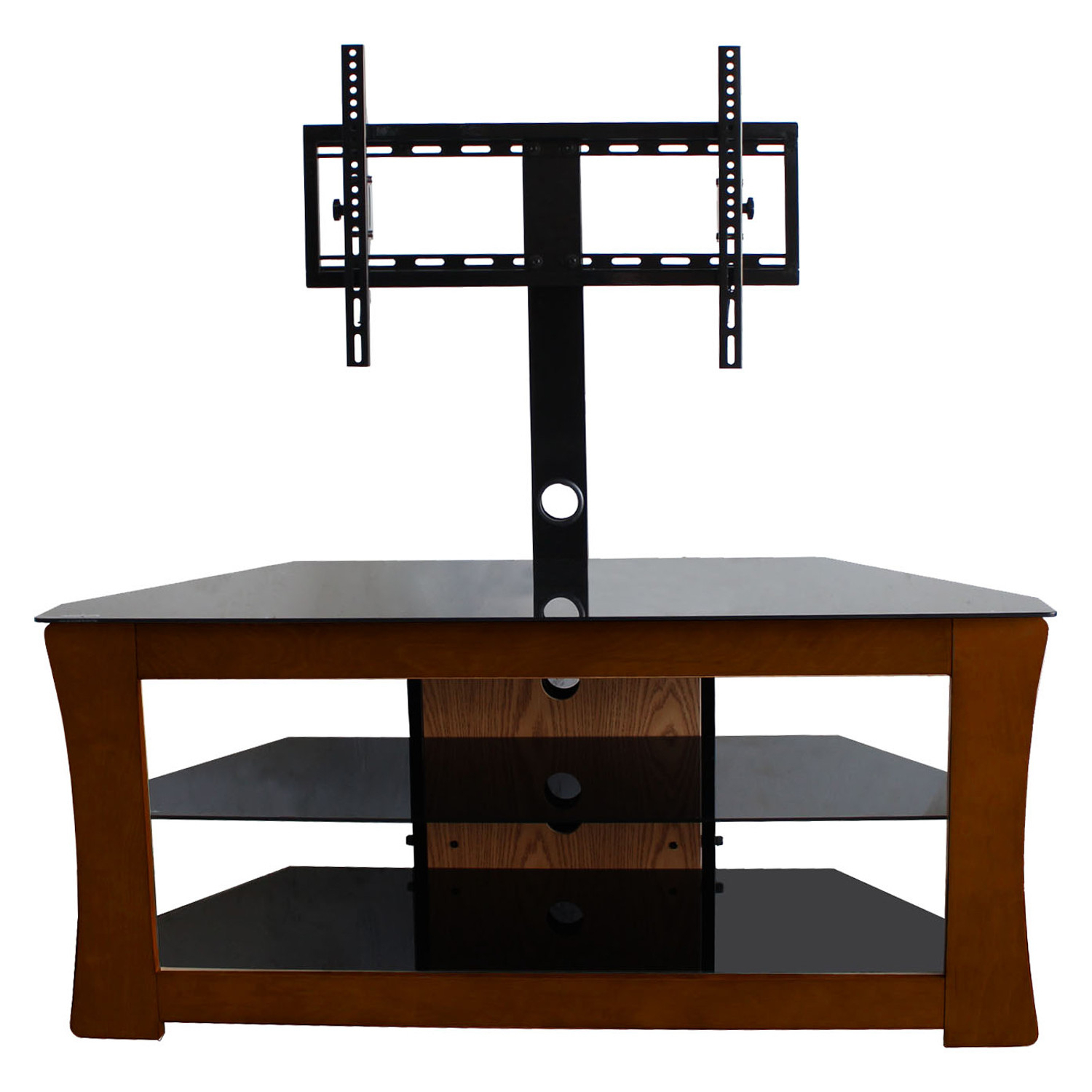 Cool Flat Screen Tv Stands With Mount – Homesfeed With Regard To Glass Shelves Tv Stands (View 13 of 20)