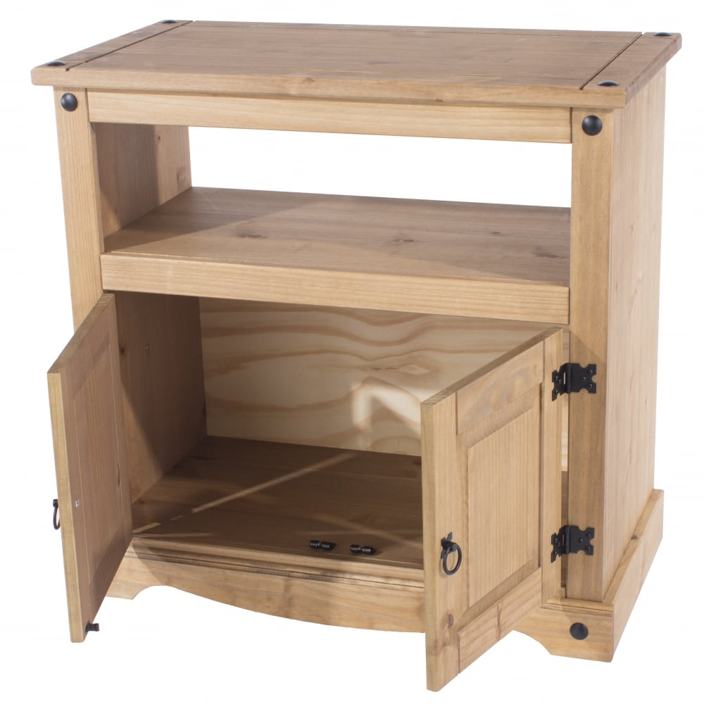 Core Products Corona 2 Door Tv Unit, Pine   Leader Furniture Pertaining To Corona Grey Corner Tv Stands (View 10 of 20)